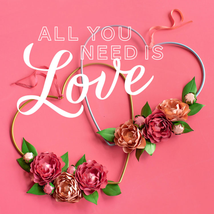 All you need is love blooming heart wreath projects