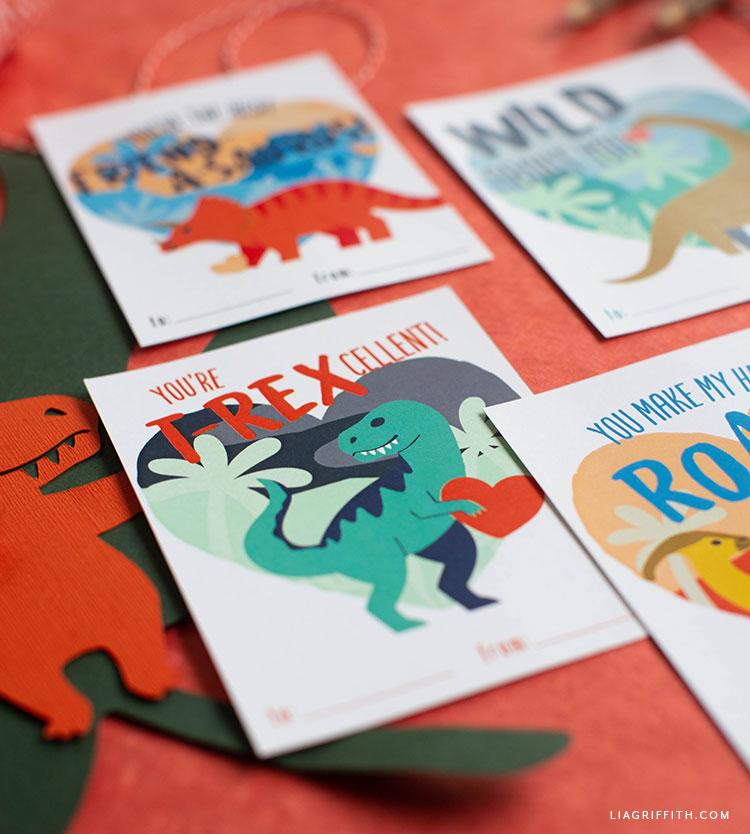printable dinosaur valentines