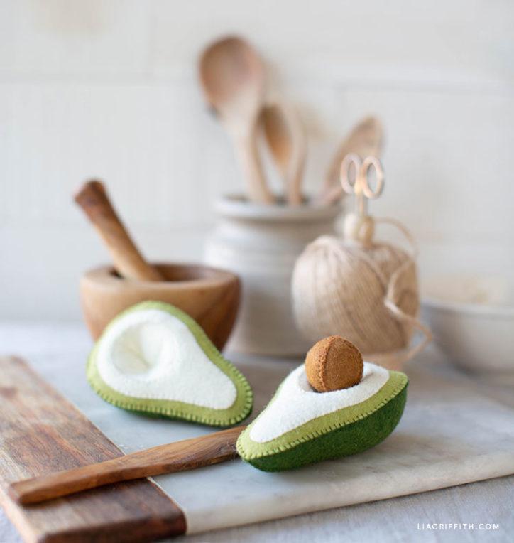 cute felt avocado