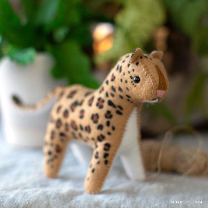 felt leopard stuffie
