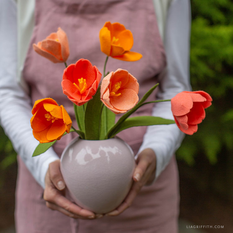 felt tulip bouquet