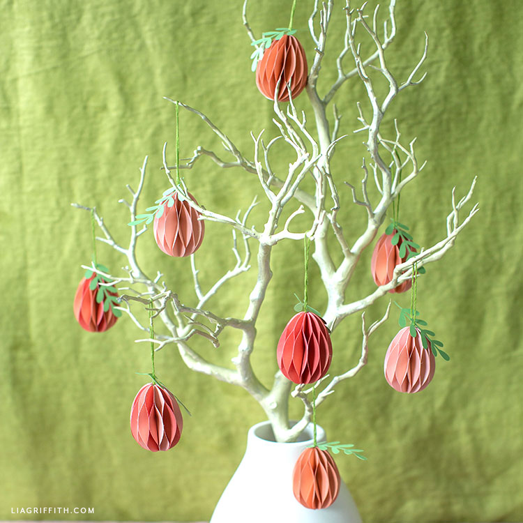paper Easter egg tree