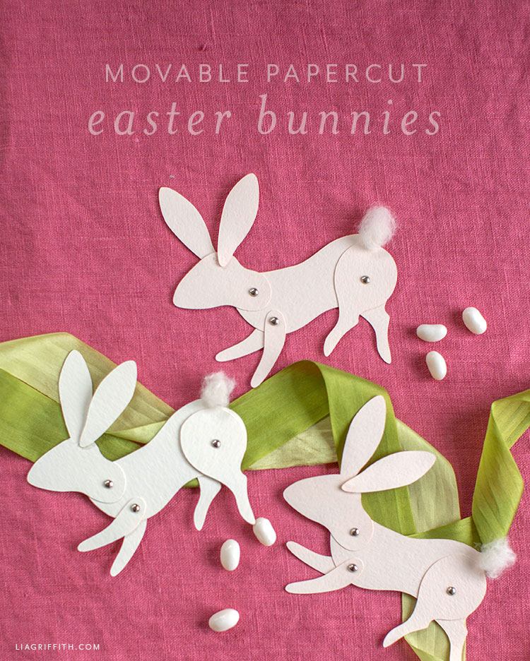movable paper bunny design
