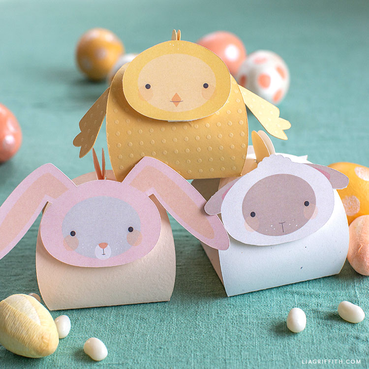 Easter animal treat boxes