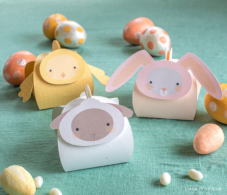 Papercut Easter animal treat boxes