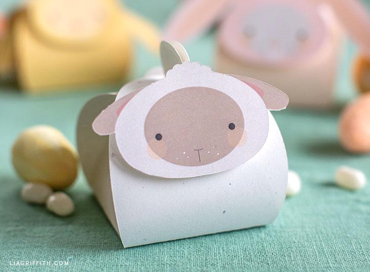 paper lamb treat box