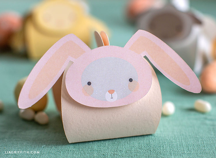 paper bunny treat box