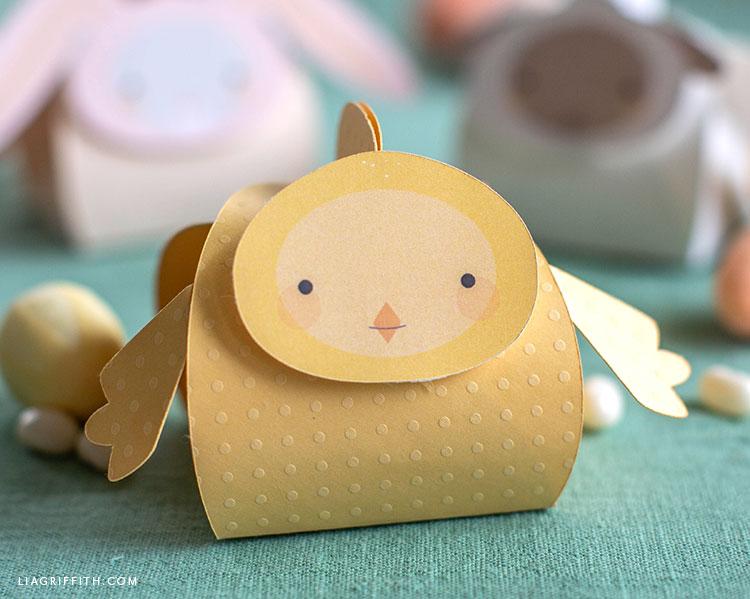papercut baby chick treat box