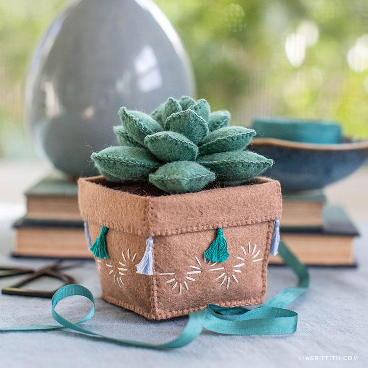 cute felt succulent