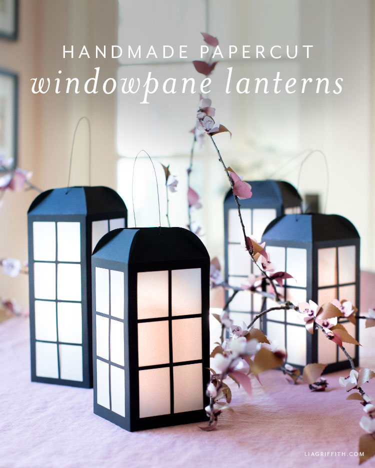 handmade papercut windowpane lanterns