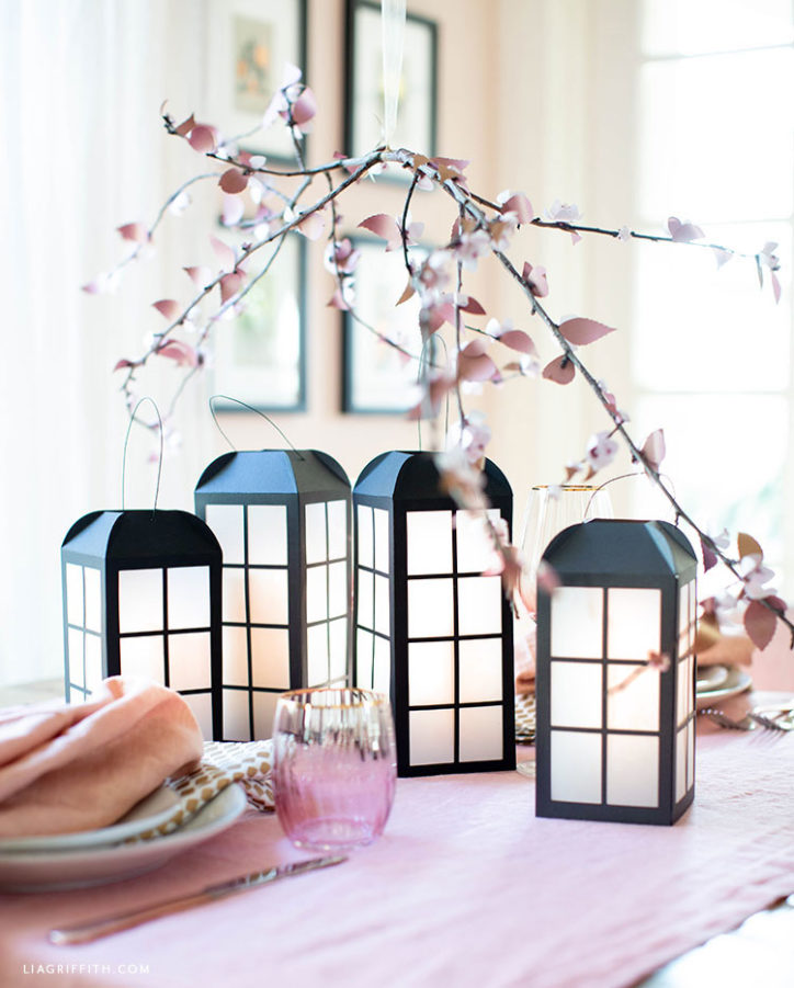 paper lanterns for spring table