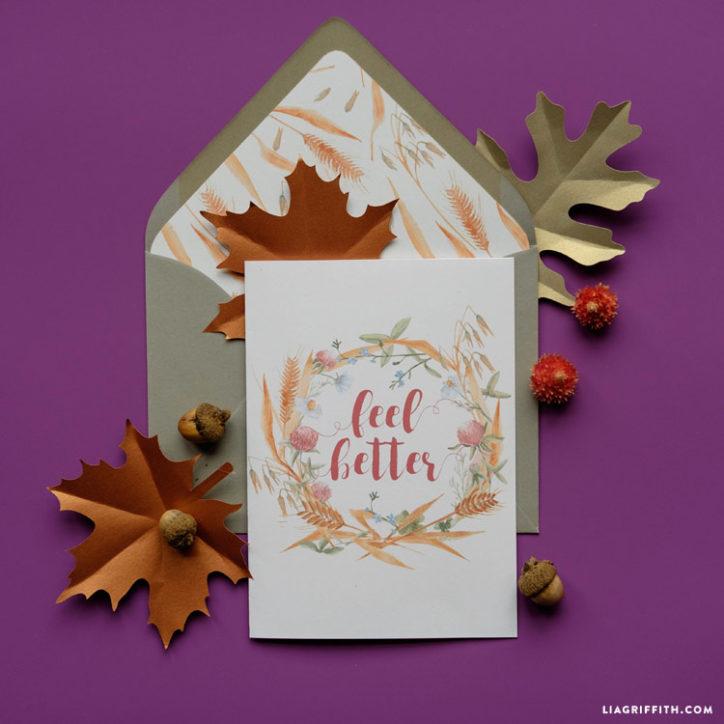 feel better printable card