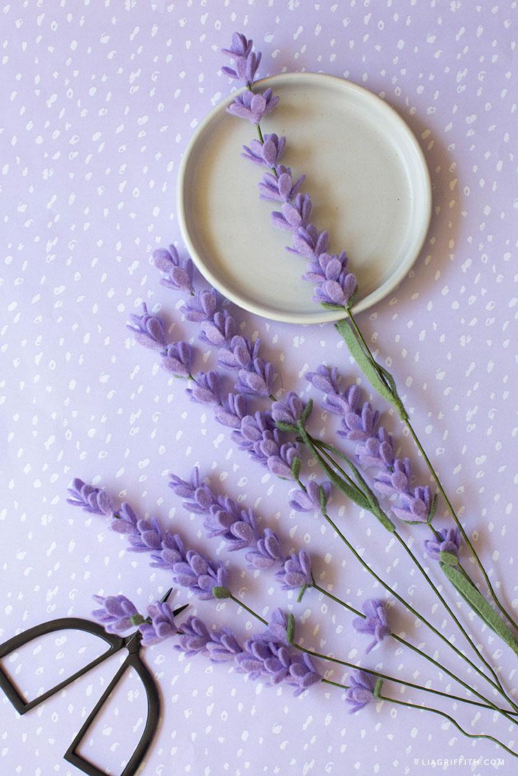 handmade felt lavender