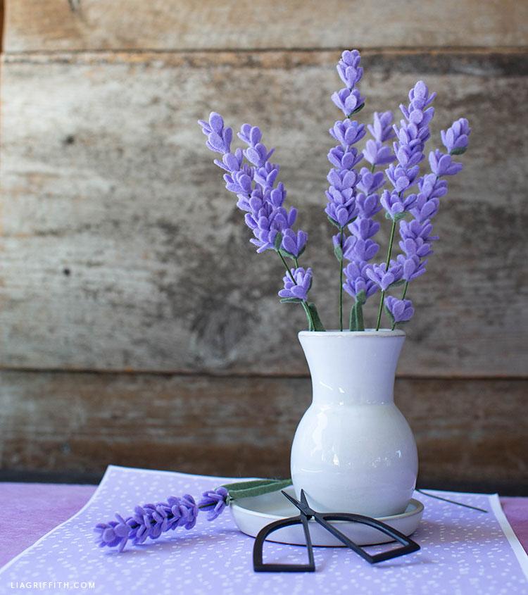 DIY felt lavender