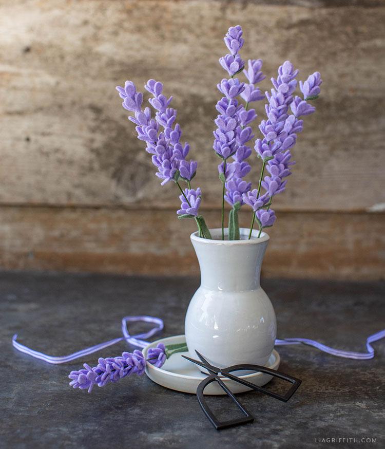 felt lavender flowers