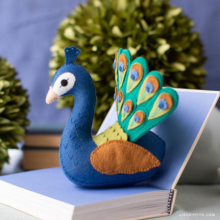 felt peacock stuffie