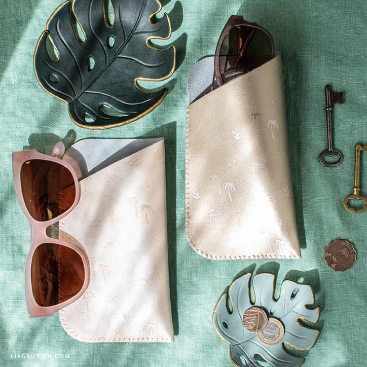 DIY leather sunglass cases