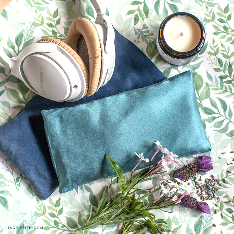 DIY eye pillows