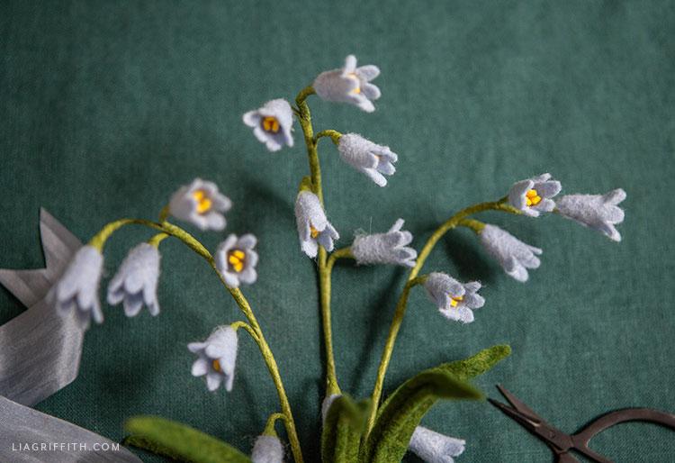 felt bluebell flowers