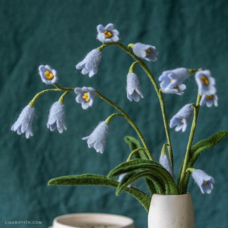 felt bluebell bouquet