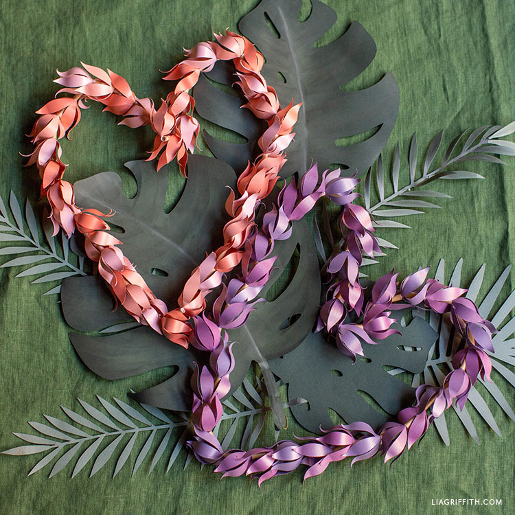 frosted paper ombre leis