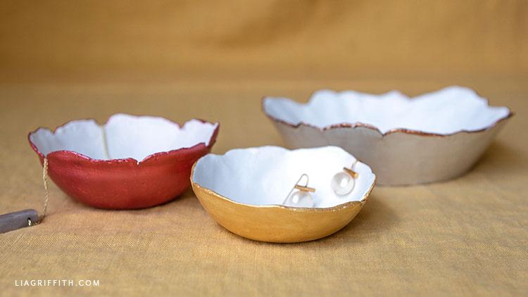 DIY clay trinket dishes