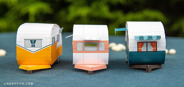 handcut paper campers