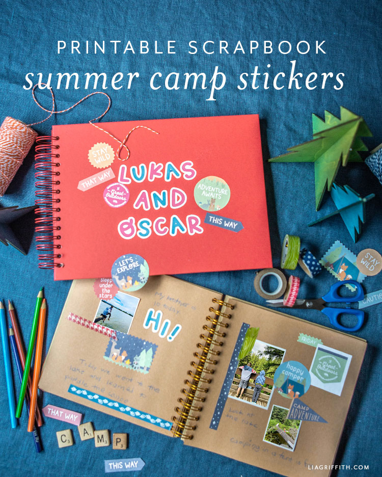 printable summer camping stickers