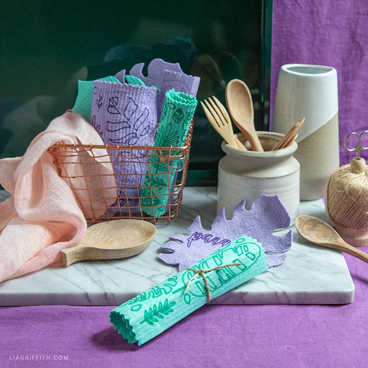 tropical Swedish dishcloths