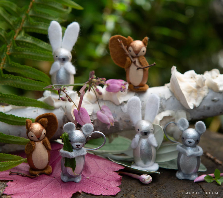 DIY woodland animal peg dolls