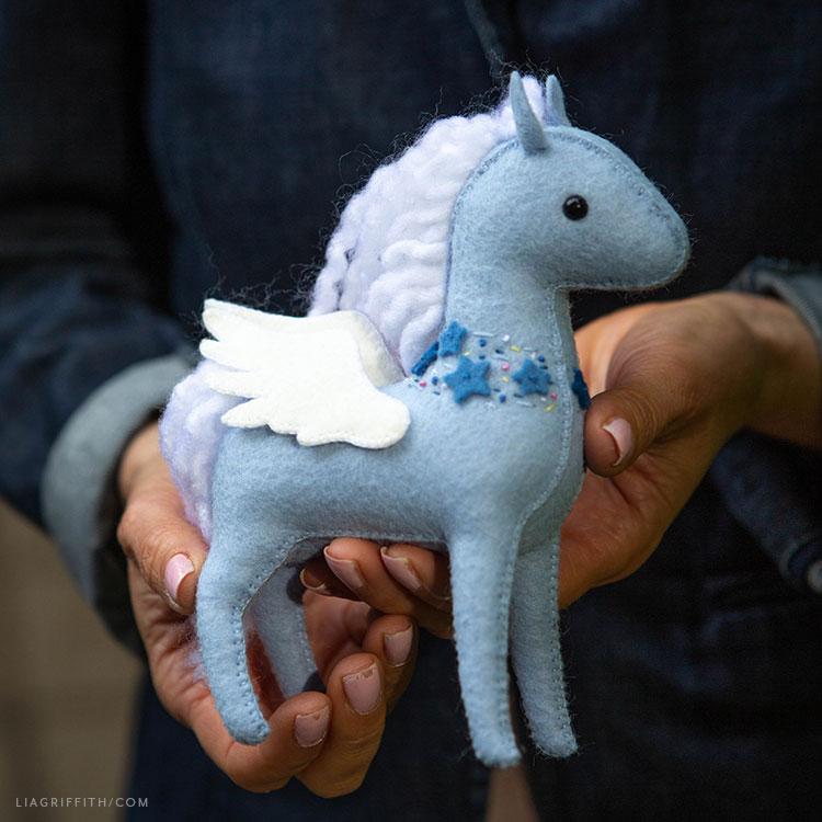 handmade felt pegasus stuffie
