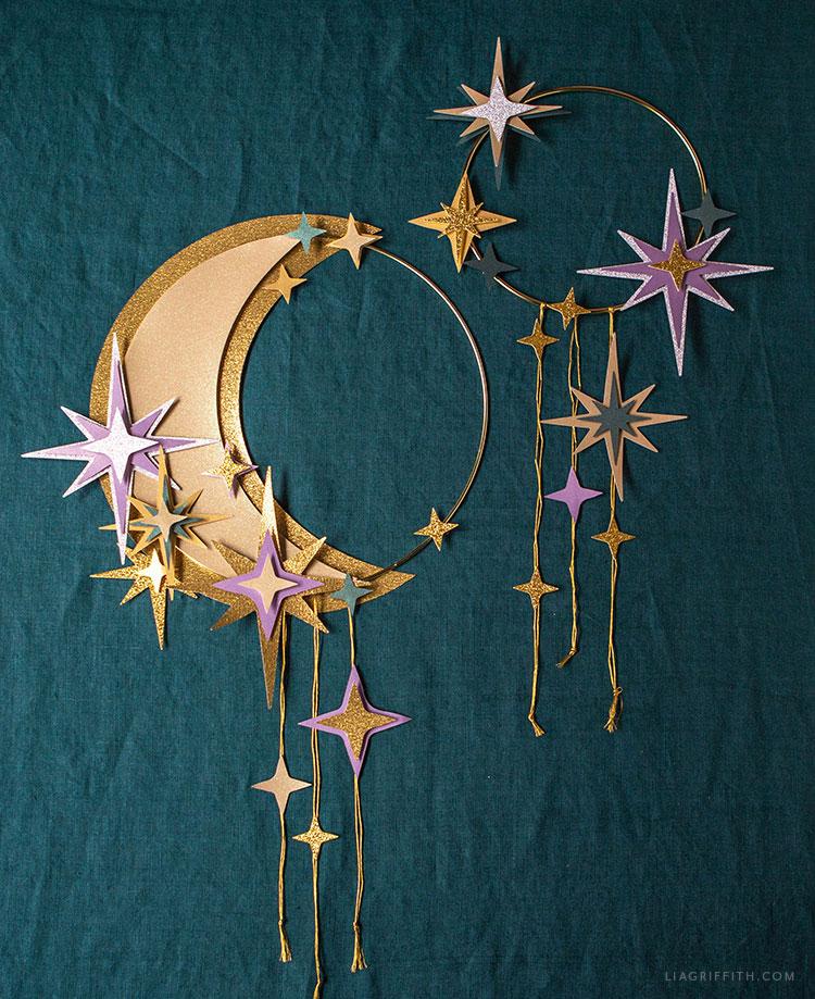 handmade celestial wall art
