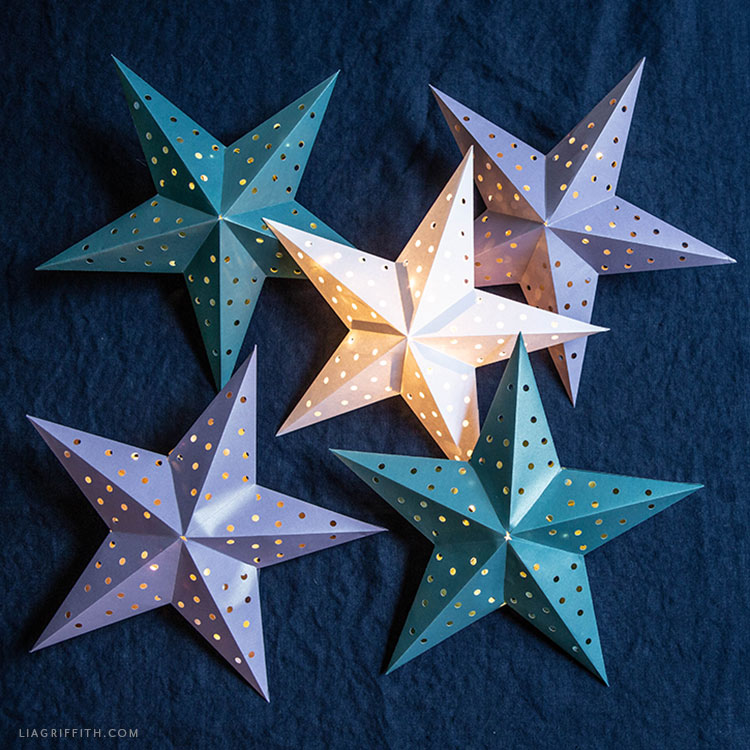 3D paper star lanterns