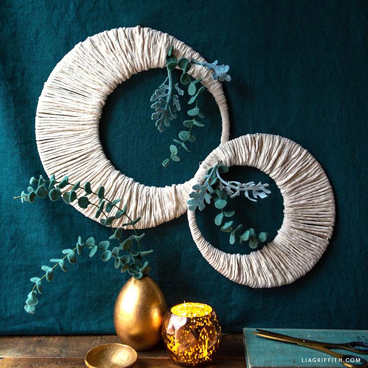 handmade moon wreaths