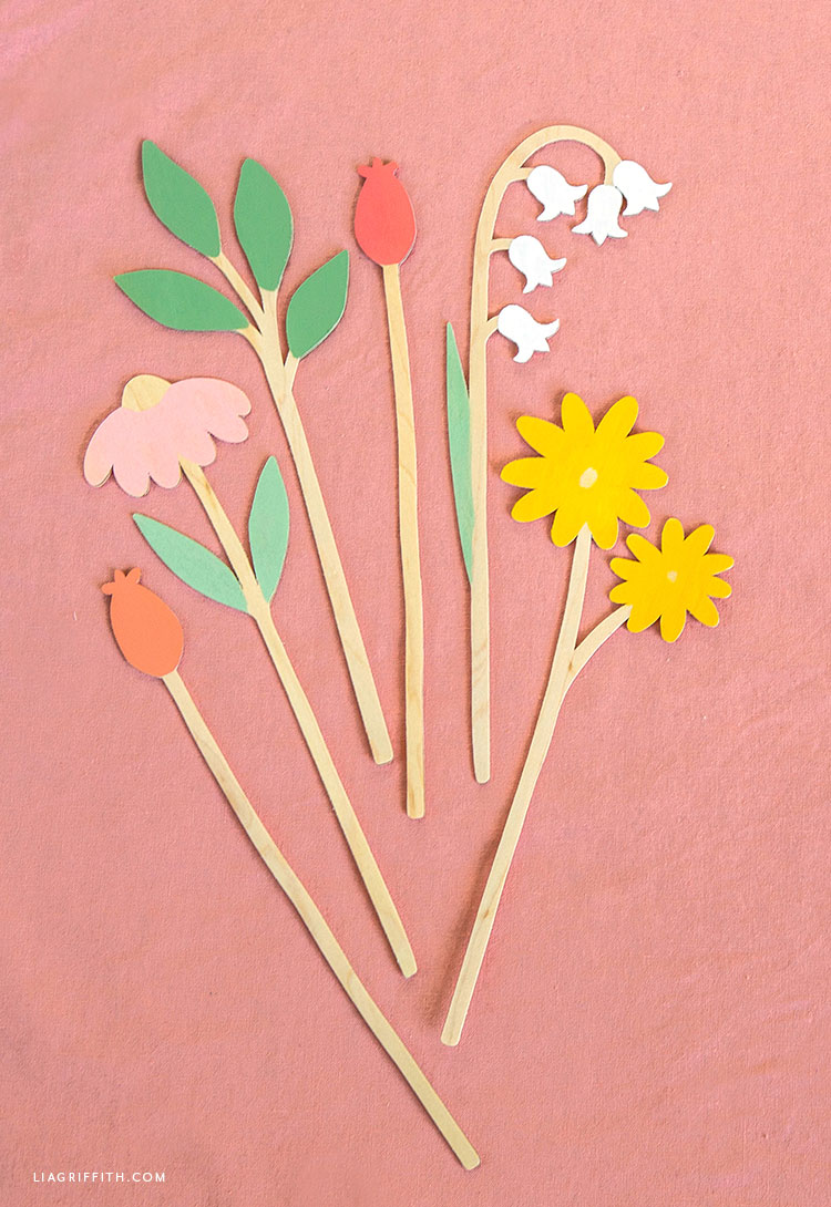 Wooden Flower Stems Lia Griffith