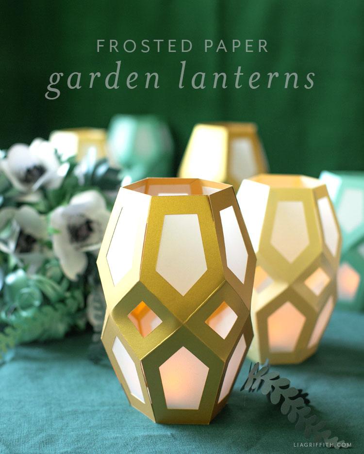 frosted paper garden lanterns