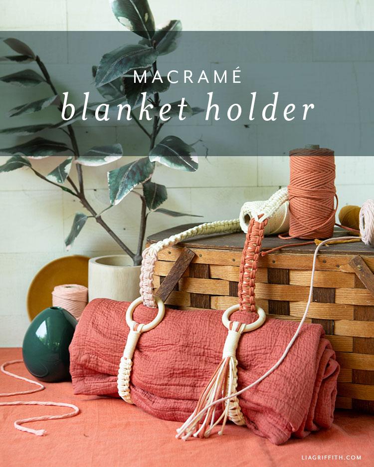 macrame blanket holder