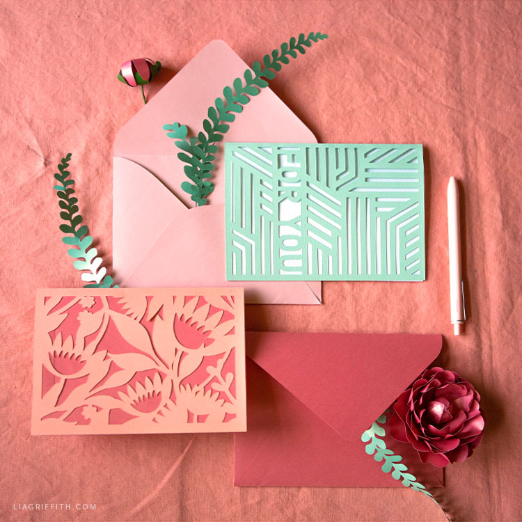DIY greeting cards and envelopes