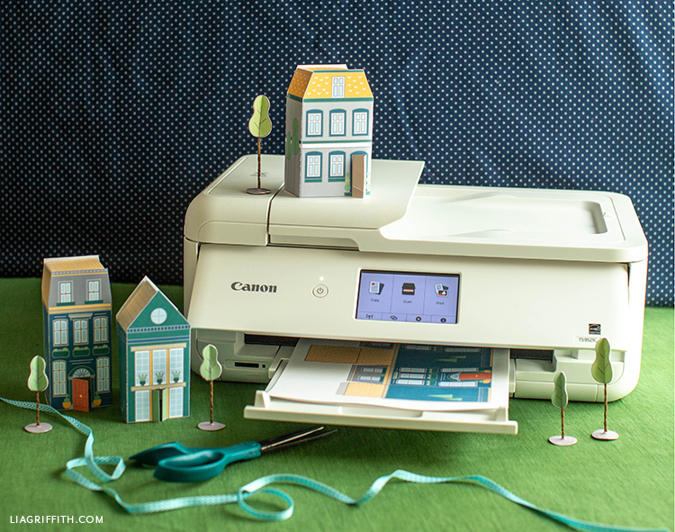 Canon printer with paper houses