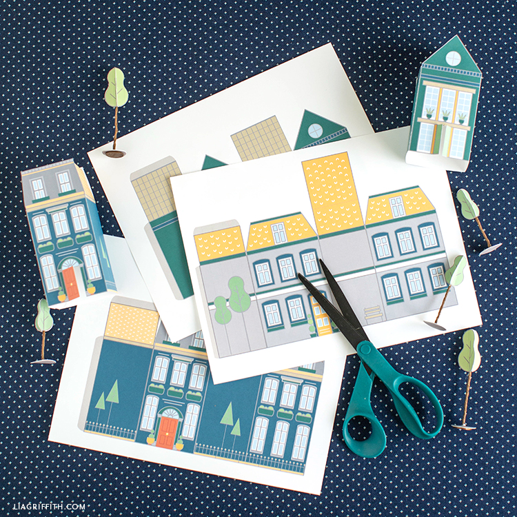 printable paper houses for kid's craft