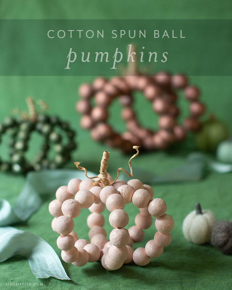 cotton spun ball pumpkins