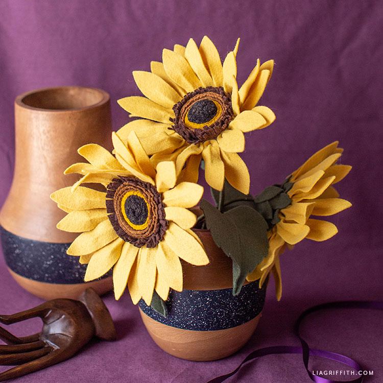 felt sunflower bouquet