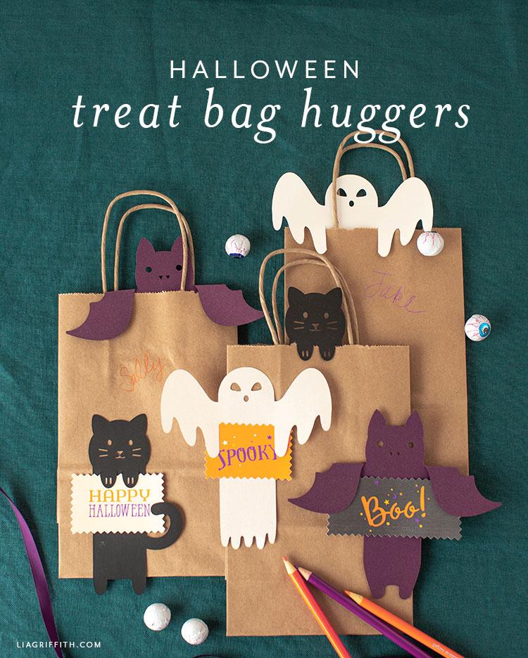 Halloween treat bag huggers