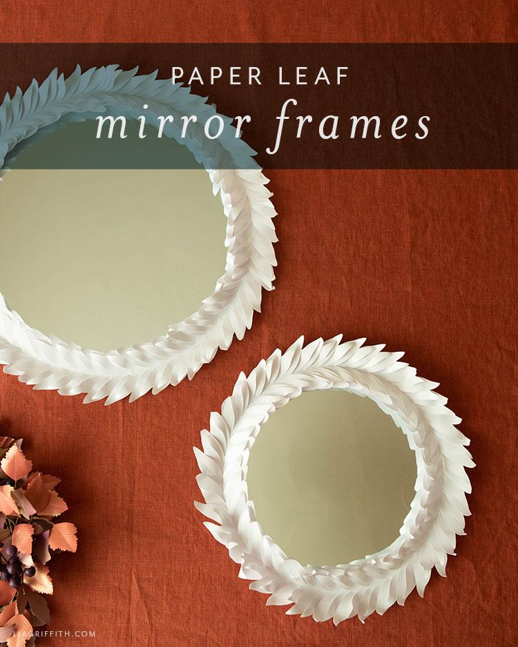 paper leaf mirror frames