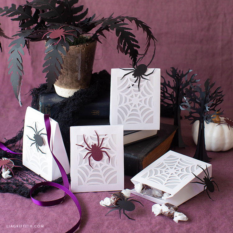 papercut spiderweb treat bags