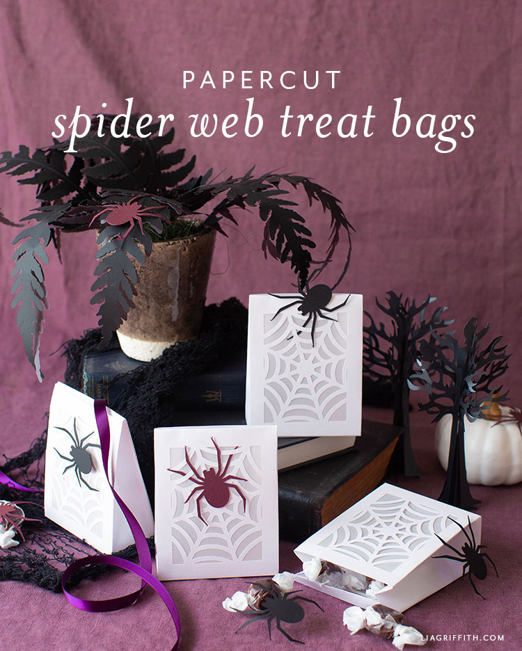 papercut spider web treat bags