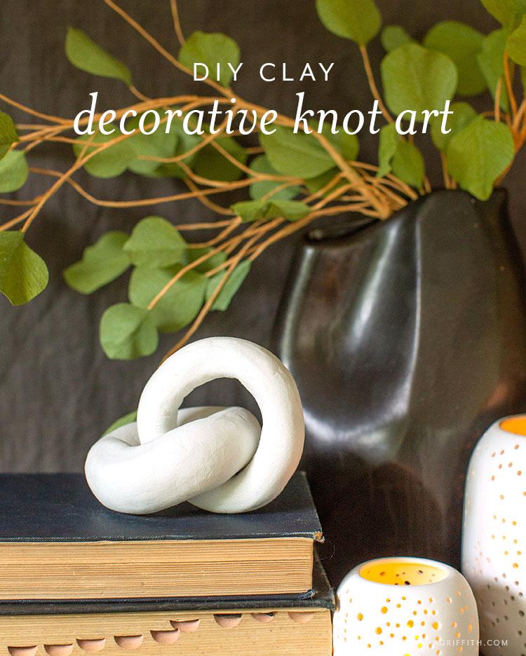 DIY clay decorative knot art