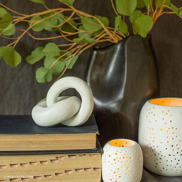 DIY clay knot home decor