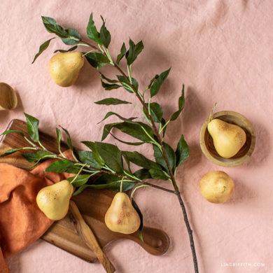 October Member Make: Crepe Paper Pear Branch