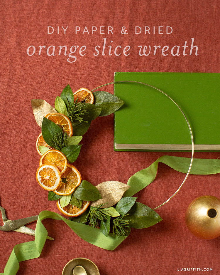 DIY paper and dried orange slice wreath